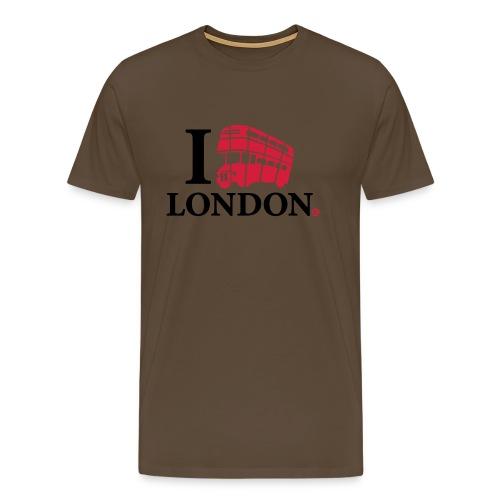 I love (Double-decker bus) London - Men's Premium T-Shirt