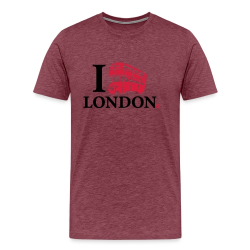 I love (Double-decker bus) London - Men's Premium T-Shirt