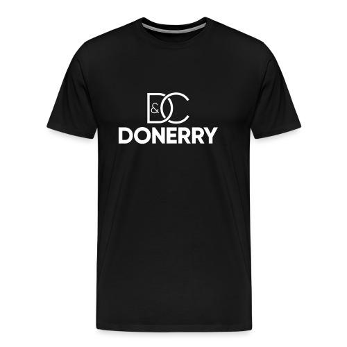 DONERRY New White Logo on Dark - Men's Premium T-Shirt