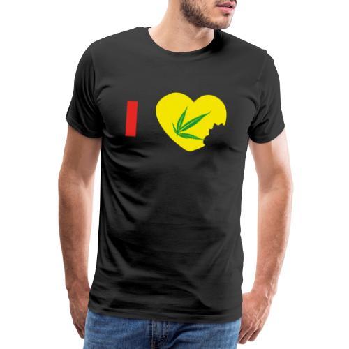 i love zam zam - i love Cannabis - T-shirt Premium Homme
