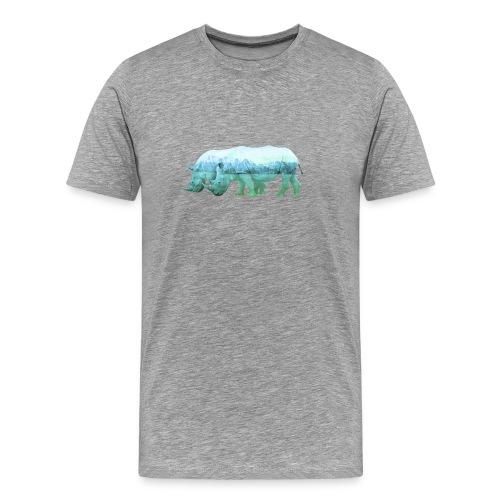 RHINOS, DIE NASHÖRNER IN DEN ALPEN - Männer Premium T-Shirt