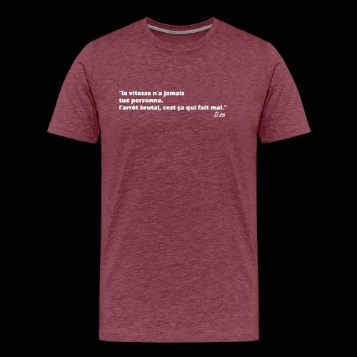 vitesse (blanc) - T-shirt Premium Homme