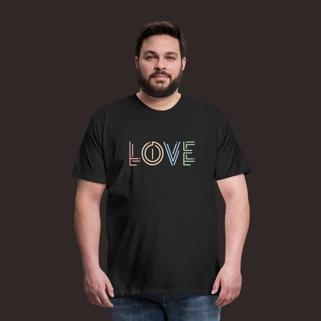 Liebe | Schriftzug kreativ bunt