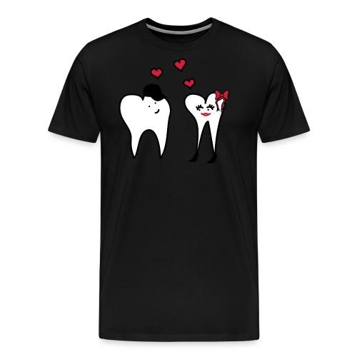 Zähne in Love II - Männer Premium T-Shirt
