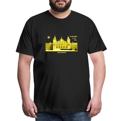 Summer Amsterdam City Bahnhof Niederlande Sommer - Männer Premium T-Shirt