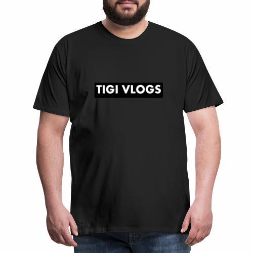Tigi Vlogs Merch - Premium-T-shirt herr