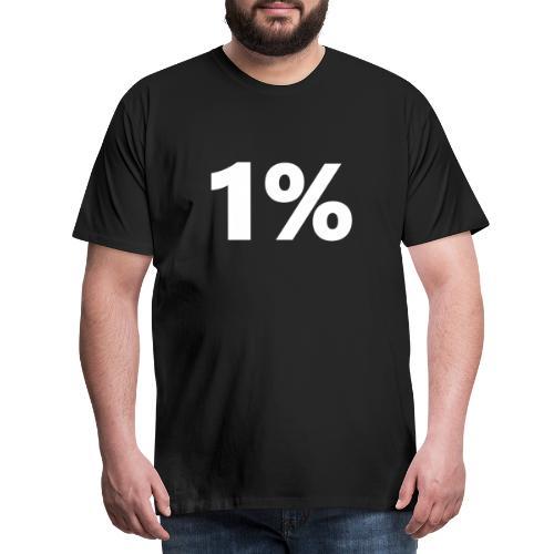 1 % wiess - Männer Premium T-Shirt