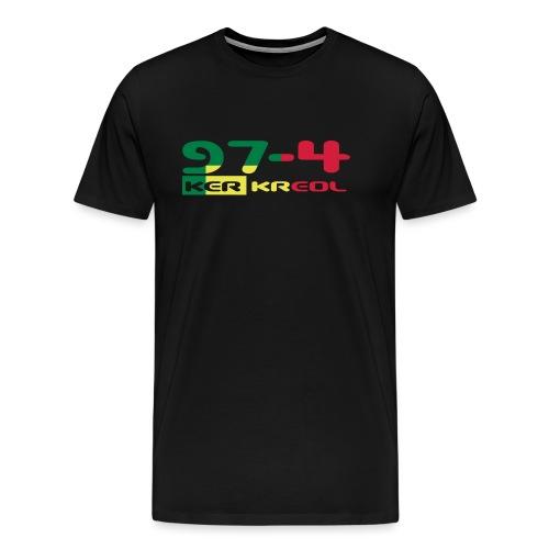974 ker kreol Rastafari - T-shirt Premium Homme