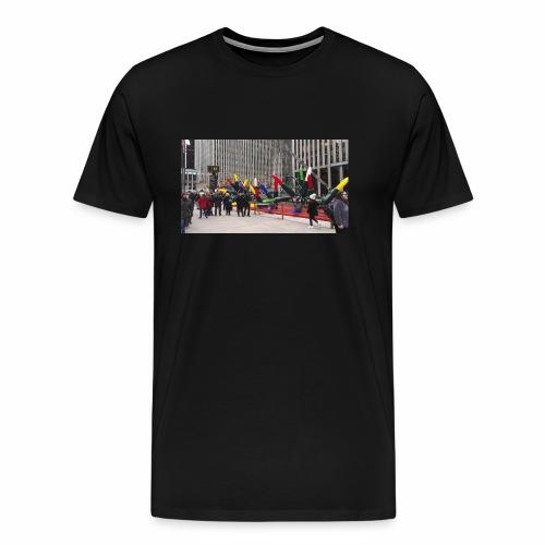 Xmas Lights - Miesten premium t-paita