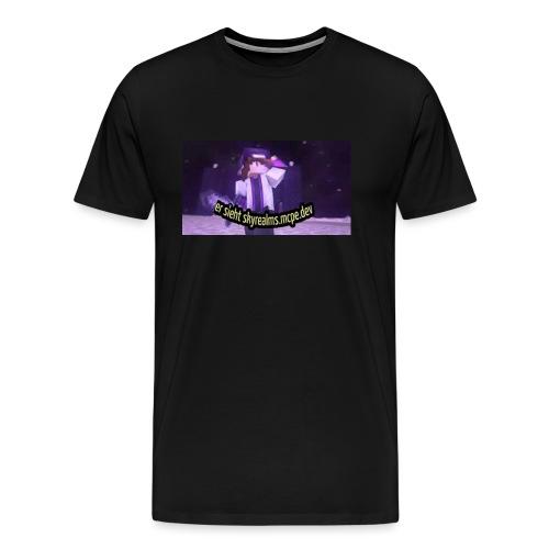 Er sieht skyrealms.mcpe.dev! - Männer Premium T-Shirt