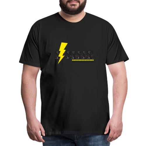 E MYSTIC scritta - Maglietta Premium da uomo