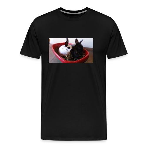 Warme Sachen mit dem Hasenlogo - Männer Premium T-Shirt