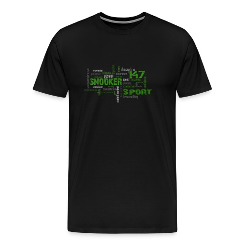 snooker word cloud - Männer Premium T-Shirt