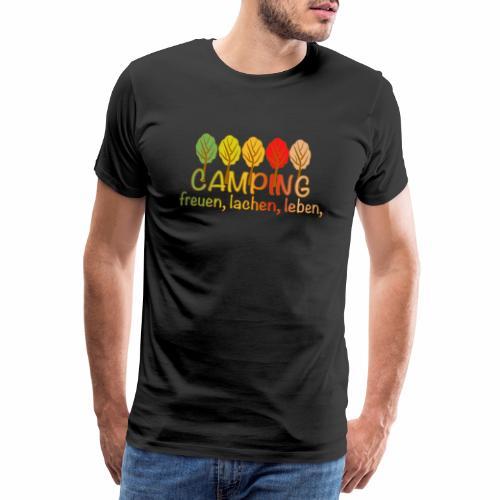 Camping, freuen, lachen, leben - deutsch - Männer Premium T-Shirt