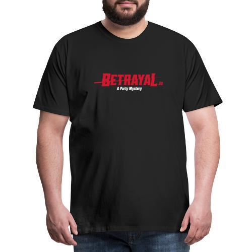 00419 Betrayal logo blanco - Camiseta premium hombre