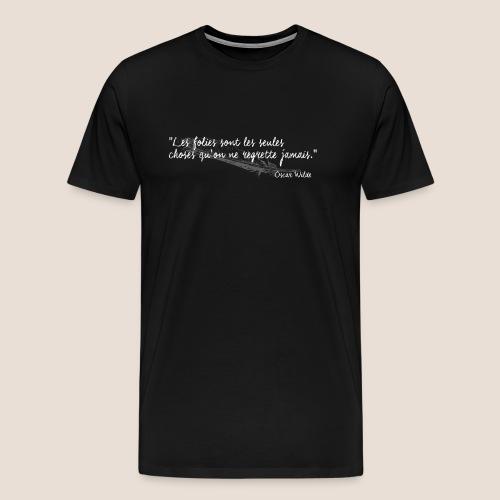 Oscar Wilde (blanc) - T-shirt Premium Homme