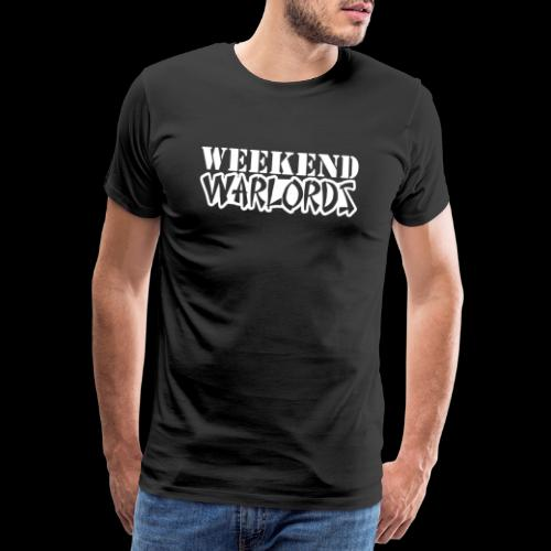 WEEKEND WARLORDS_WHITE on - Men's Premium T-Shirt