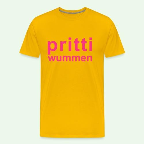 pritti wummen // pretty woman // girl power - Männer Premium T-Shirt