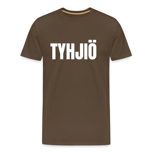 TYHJIÖ Logo White - Miesten premium t-paita