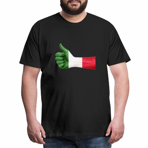 Italienische Flagge auf Daum - Männer Premium T-Shirt