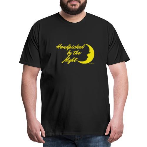 Handpicked design By The Night - Logo Yellow - Men's Premium T-Shirt