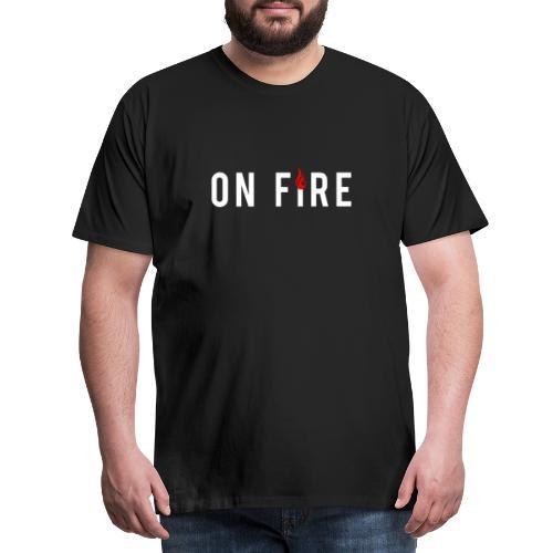 Unbenannton fire weiss 1 - Männer Premium T-Shirt