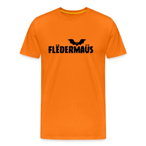 Flëdermaüs - Logo black - Mannen Premium T-shirt