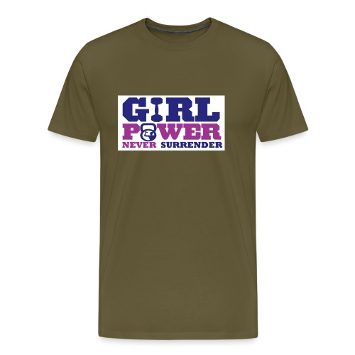 GIRL POWER NEVER surrender 01 - Camiseta premium hombre