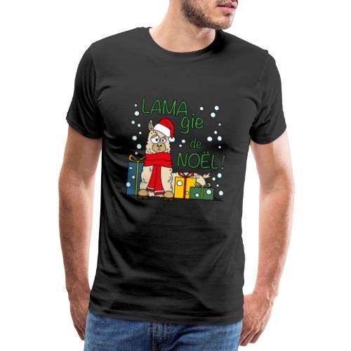 Lama, Magie de Noël, Happy Christmas, Pull moche - T-shirt Premium Homme