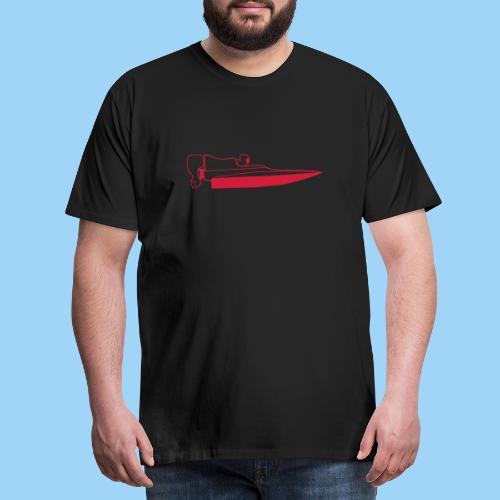 Powerboat GT30/GT15 Red - Premium-T-shirt herr