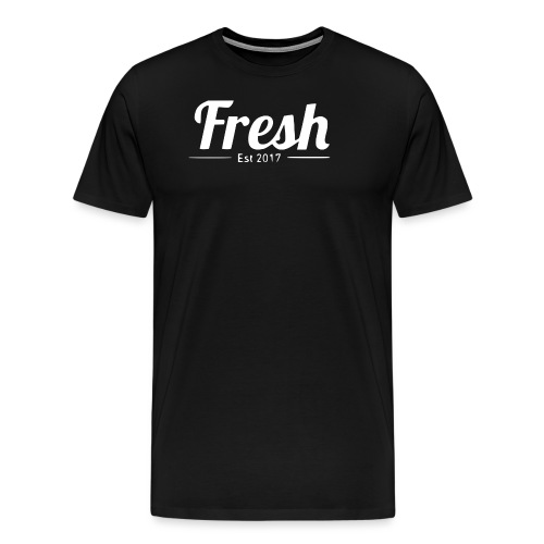 white logo - Men's Premium T-Shirt