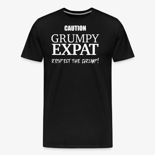 Caution - Respect the Grump - Men's Premium T-Shirt