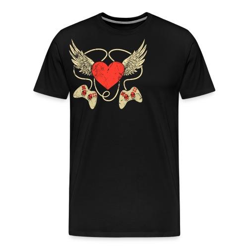 Gamer Herz - Controller - Männer Premium T-Shirt