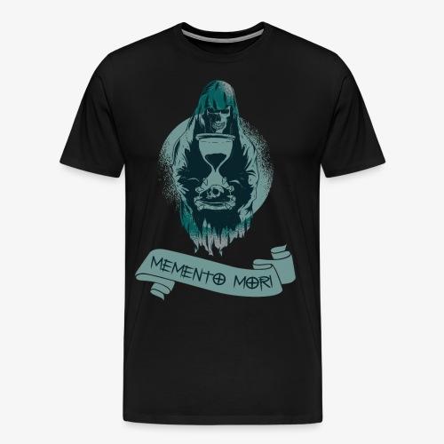"""Memento Mori"" ,Skull, Death, Remember - Men's Premium T-Shirt"