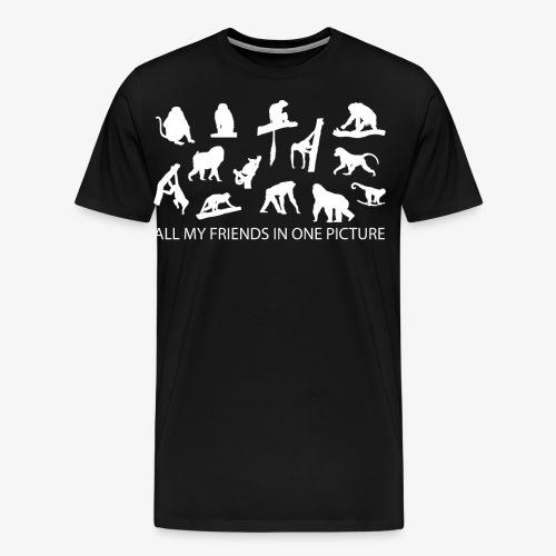 All My Friends In One Picture Funny Monkey Joke - Men's Premium T-Shirt