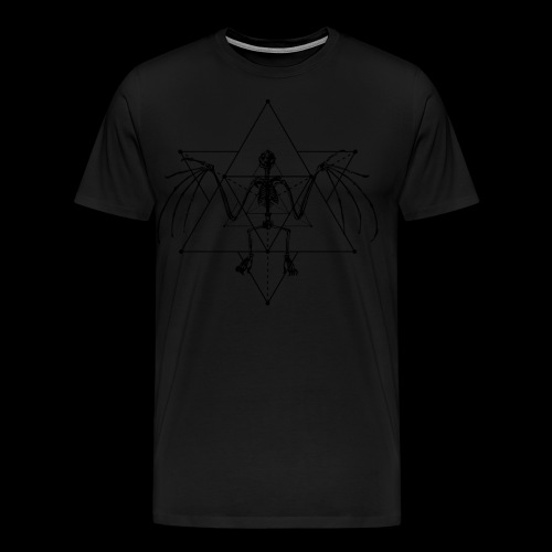Bat Skeleton Merkaba Sacred Geometry - Men's Premium T-Shirt