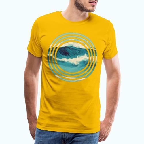 Wave vintage watercolor - Men's Premium T-Shirt