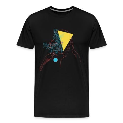 a girl and a bird - T-shirt Premium Homme
