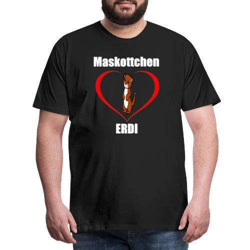 Herz Maskottchen Erdi - Männer Premium T-Shirt