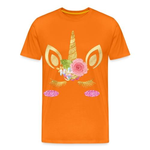 unicorn face - Männer Premium T-Shirt