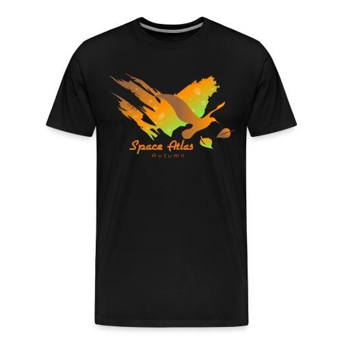 Space Atlas Longshirt Tee Autumn Leaves - Herre premium T-shirt