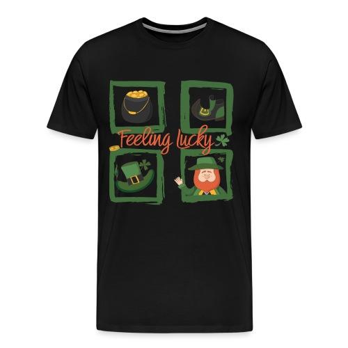 Be happy - feeling lucky St. Patricks day - Men's Premium T-Shirt
