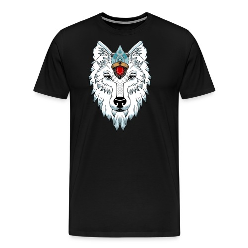 female wolf newschool - T-shirt Premium Homme