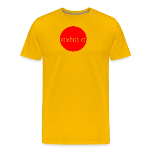 exhale - Men's Premium T-Shirt