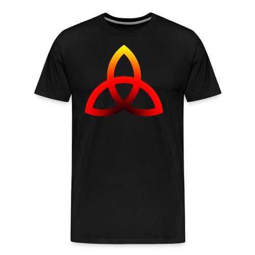 Feuriges Triketra Zeichen - Männer Premium T-Shirt