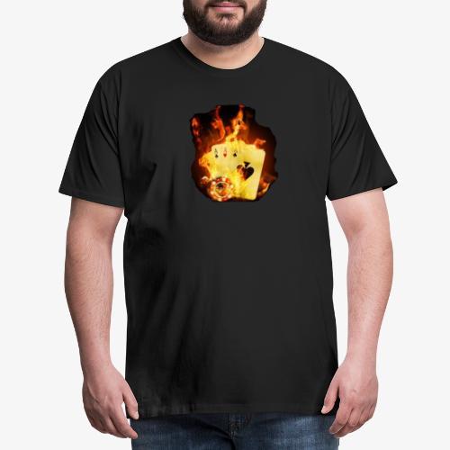 Flamme THE TEXAS HOLDEM - Männer Premium T-Shirt