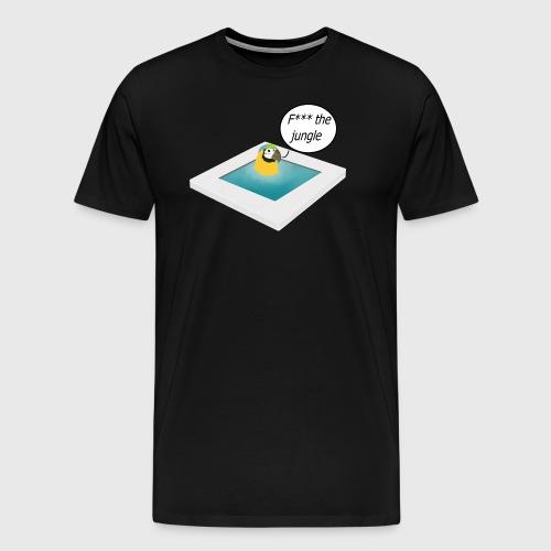 Pappagallo nella piscina - Maglietta Premium da uomo