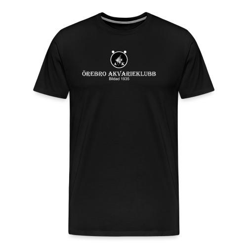 nyloggatext2medvitaprickar - Premium-T-shirt herr