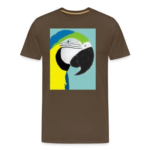 Parrot, new - Miesten premium t-paita
