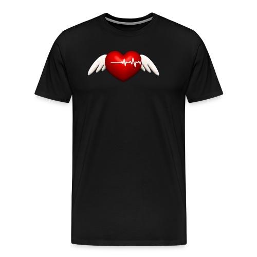 Lebensretter Herz mit Flügel - Männer Premium T-Shirt